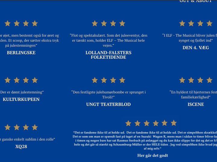 Esben har været i Tivolis koncertsal og se 'Elf – The Musical'
